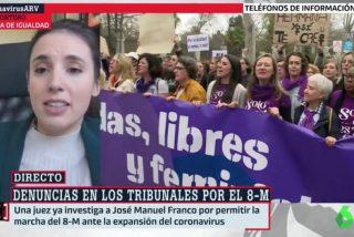 Irene Montero reaparece de su cuarentena para intenta eludir su responsabilidad criminal en el 8M y llama fachas a todo aquel que osa criticarla