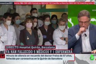 Un periodista del diario El Mundo rompe a llorar por los muertos del coronavirus