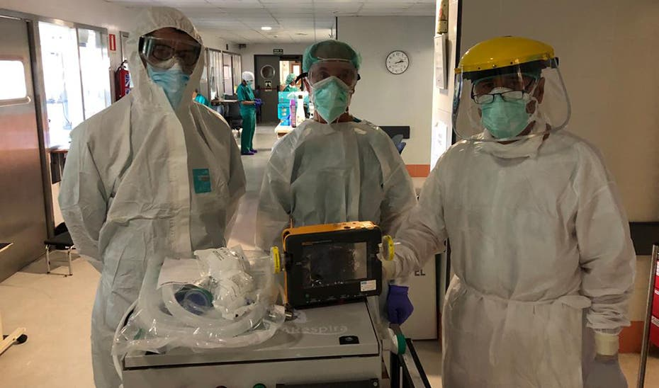 Concluye con éxito el primer ensayo clínico del respirador diseñado en Andalucía
