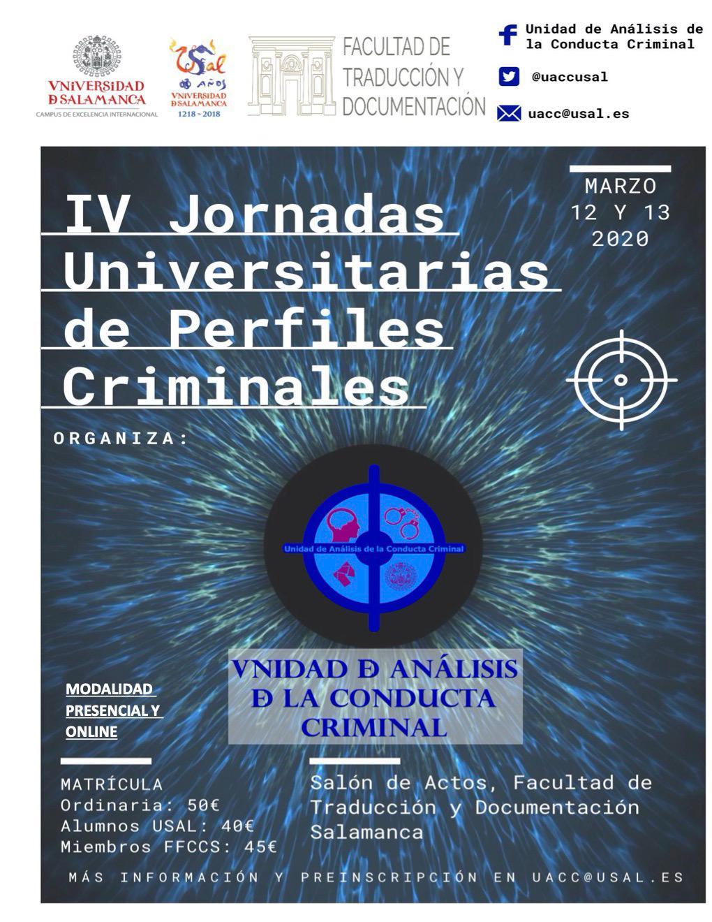 La UniónGC, dentro del plan de apoyo a la formación continua colabora en jornadas universitarias de criminologia