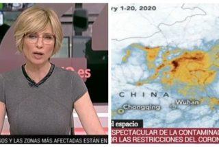 """El 24 horas de TVE celebra que """"ha bajado la contaminación"""" en China pese a los 3000 muertos por coronavirus y el desastre económico"""