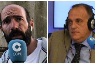 Alcalá y Tebas se las tienen tiesas en COPE a cuenta del coronavirus y la reanudación de la Liga