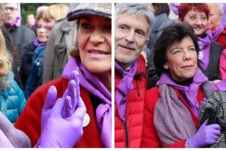 Coronavirus: las ministras 'jetas' de Sánchez fueron con guantes de látex al 8M mientras pedían tranquilidad