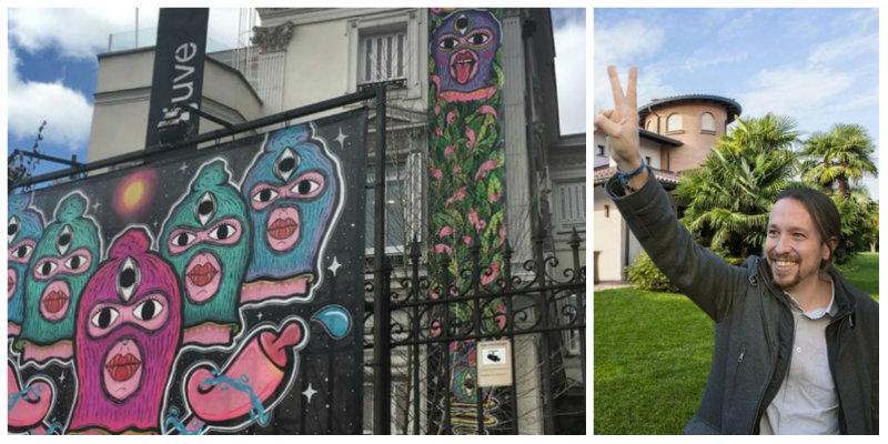Twitter le derriba a Pablo Iglesias el circo 'chocho feminazi' montado en la fachada de su ministerio