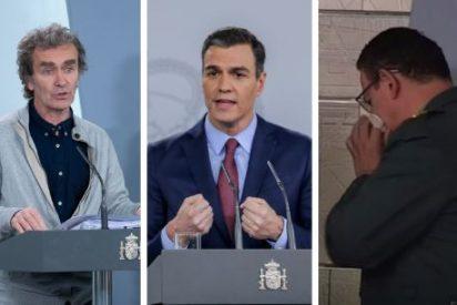 La imagen dantesca que 'se le cuela' al Telediario de TVE y que hunde la escenografía del Gobierno contra el coronavirus