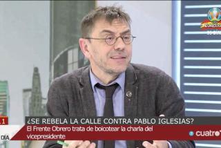 Monedero ficha por la casta más 'facha' y ataca a los 'jóvenes sin futuro' que escracharon a Iglesias: