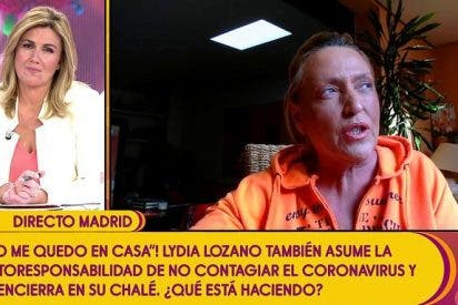 "'Sálvame': Lydia Lozano, aislada por ""protocolo"" ante la amenaza del coronavirus"