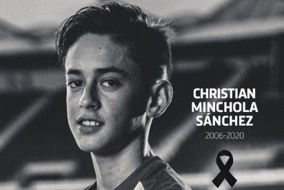 Tragedia en el Atlético de Madrid: muere con 14 años su canterano Christian Minchola