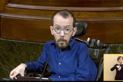 Pablo Echenique, que puede permitirse vivir en el lujoso barrio de Salamanca, utiliza su turno para decir que a Podemos le preocupan los vecinos de Lavapiés