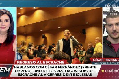 Los bufones de Risto se aprovechan del 'escrachador joven sin futuro' para defender las contradicciones de Iglesias