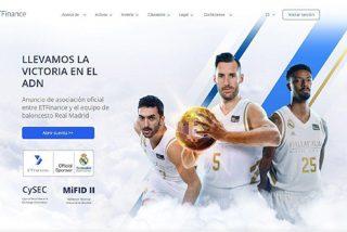 ETFinance patrocina Real Madrid: cuenta demo, bonus 2020