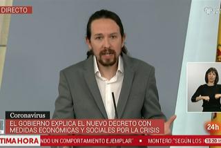 Iglesias, prófugo de la cuarentena, 'sale por patas' de la propuesta de Abascal negándose a dimitir con urgencia