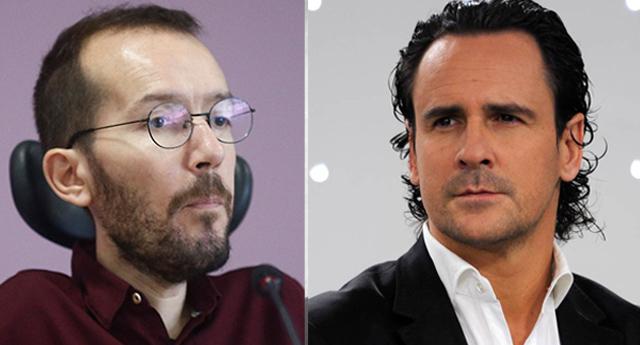 """Echenique enloquece y se encara con el exfutbolista que tildó de """"pedazo de mierda"""" a Pablo Iglesias"""