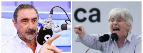 """Carlos Herrera vacuna sin anestesia a la """"miserable"""" Ponsatí por burlarse de los muertos por coronavirus: """"Es una pobre imbécil"""""""