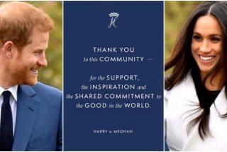 El emotivo mensaje con el que el Príncipe Harry y Meghan Markle se despiden de la realeza