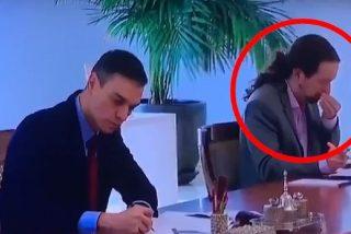 RTVE toma por idiota a su audiencia: dice que Pablo Iglesias fue a Moncloa con mascarilla y en sus imágenes aparece sin ella