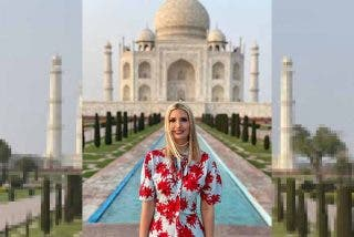 Los indios se parten de risa por la foto de Ivanka Trump en el Taj Mahal