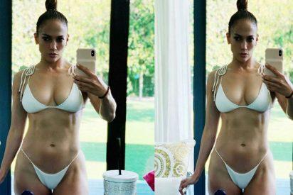 Jennifer Lopez posa de blanco y pone colorado a todo Instagram