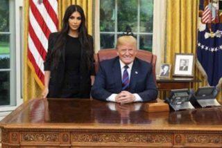 Donald Trump acogió a Kim Kardashian en la Casa Blanca y a