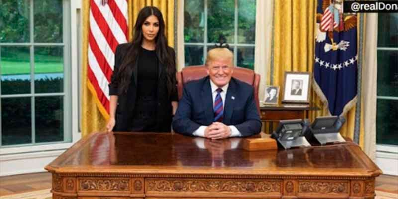 Donald Trump recibió a Kim Kardashian en la Casa Blanca y el motivo parece inverosímil