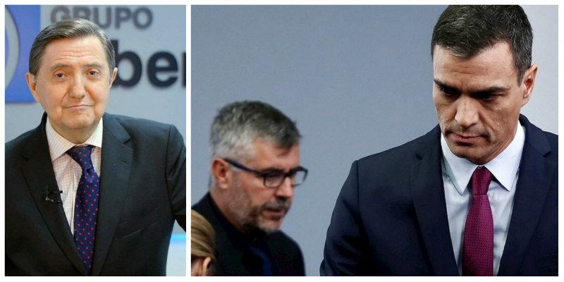 Losantos echa la 'peste china' con el comisario liberticida de Sánchez por su esperpento desinformativo en Moncloa