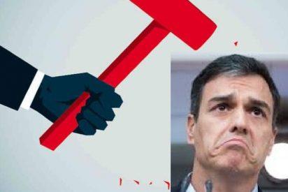 El socialista Sánchez se pone de perfil cuando un periodista le pregunta si no ha llegado el momento de bajarse el sueldo