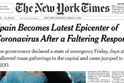 Hasta 'The New York Times' critica la 'vacilante' gestión de Sánchez en el coronavirus