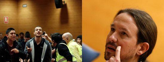 Karma: los estudiantes rojos dan a Pablo Iglesias una buena dosis de 'jarabe democrático'