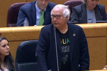 Colosal cachondeo de Rafa Hernando con las pintas del ministro de Universidades en el Senado