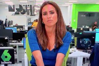 Tremenda pillada a una reportera de laSexta a escasos minutos del discurso de Felipe VI