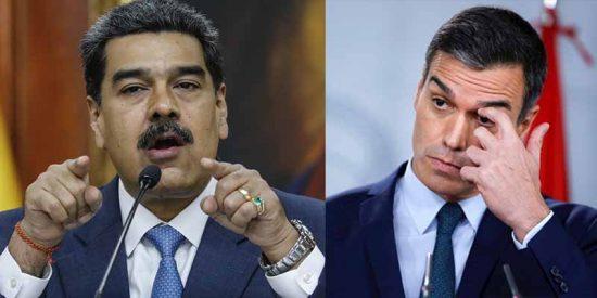 """Pedro Sánchez se acobarda ante las amenazas del chavismo: citó al embajador de Maduro para """"encauzar la situación"""""""