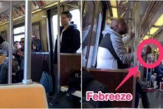 Un negro asustado por el coronavirus rocía con ambientador a un asiático en el Metro de Nueva York