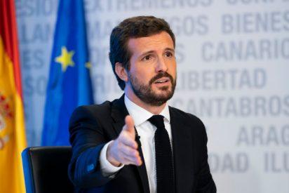 Casado exige a Sánchez que despida a la mitad de sus 22 ministros para ahorrar y destinarlo al coronavirus