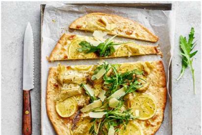 Pizza de alcachofas