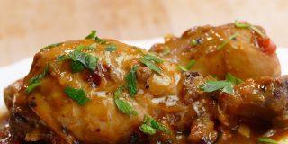 Pollo guisado con verduras