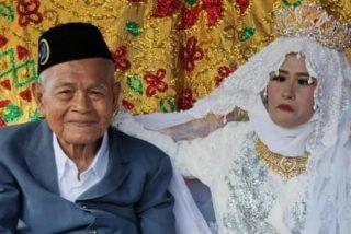 Indonesia: un anciano de 103 años compra una esposa de 27 años con 300 euros