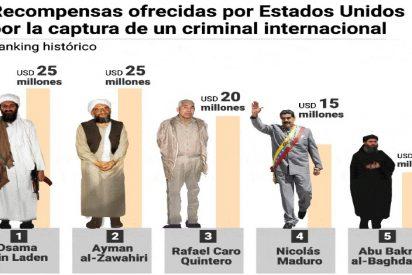La recompensa que Trump ofrece por la cabeza de Maduro es la cuarta más alta en la historia de EEUU