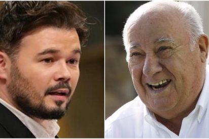 """El regalo envenenado de Rufián a Amancio Ortega en su 84 cumpleaños: """"¡Viva la envidia!"""""""