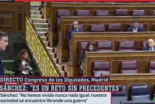 Desolador y demoledor: Pedro Sánchez y sus circunstancias comparecen ante un Congreso cuasi desértico