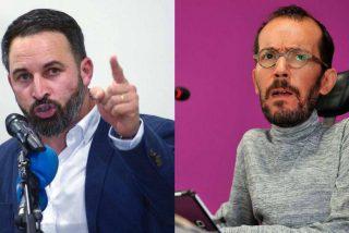 Abascal apalea a Echenique por decir que Villarejo vota a VOX: