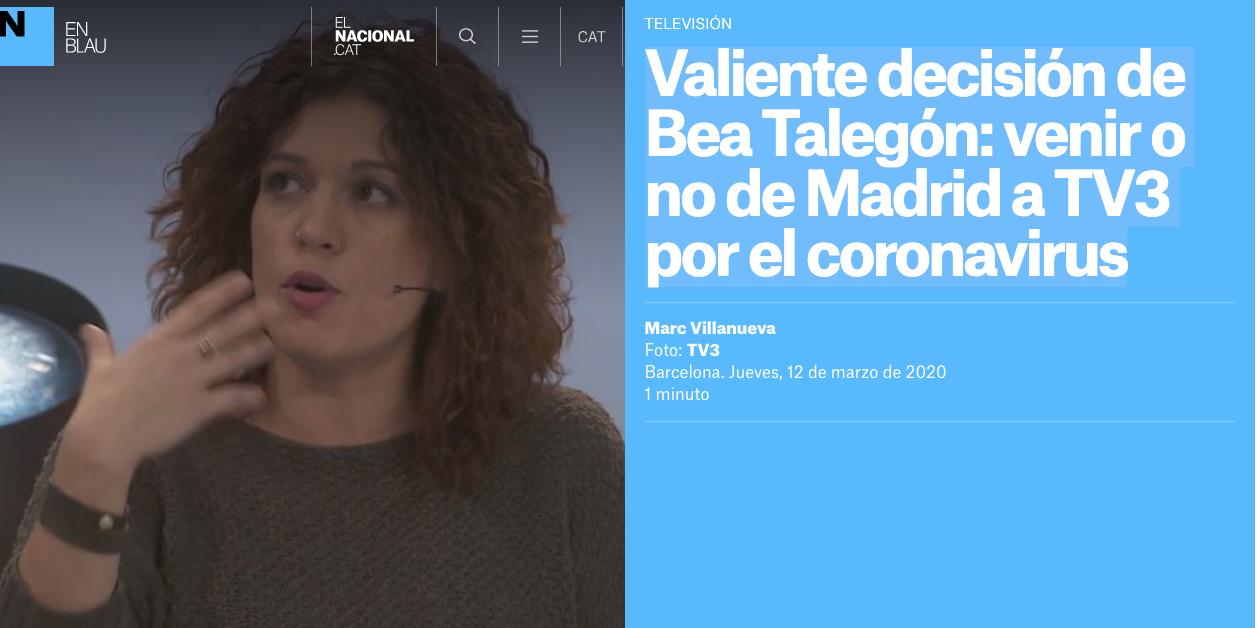 """Talegón presume de civismo al no acudir a 'FAQS' por el coronavirus y la productora la desmiente: """"Fue una decisión consensuada"""""""