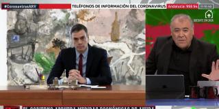 """El Quilombo / Ferreras entra en éxtasis porque """"este Gobierno de izquierdas no se olvida de los más vulnerables"""""""