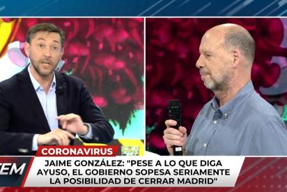 Javier Ruiz no digiere bien una noticia del diario de Jaime González sobre el coronavirus y acaba a grito pelado