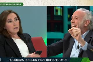 Angélica Rubio se pone como la niña del exorcista ante la perfecta definición de Eduardo Inda sobre los efectos mortales del 8-M