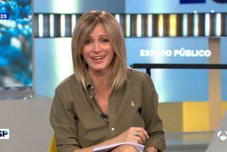 El repertorio de irresponsabilidades del programa de Susanna Griso al 'colarse' en IFEMA: sin guantes, sin mascarilla... ¡y tosiendo!