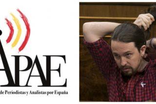 La Asociación de Periodistas y Analistas por España denuncia el vergonzoso silencio de la APM ante las amenazas de Podemos a Inda
