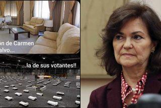 Muface hunde a Carmen Calvo: le pidieron que usase la sanidad pública, pero ella insistió en la privada