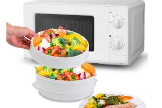 Ventajas de cocinar al vapor en microondas, + receta fácil