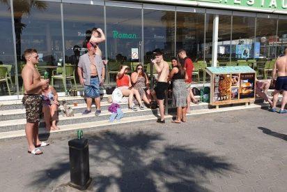Un grupo de 'guiris' borrachos se encara con la Policía en Benidorm: