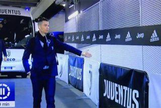 Coronavirus: A Cristiano Ronaldo le hace muchísima gracia jugar a puerta cerrada y saluda a los inexistentes aficionados al entrar al estadio